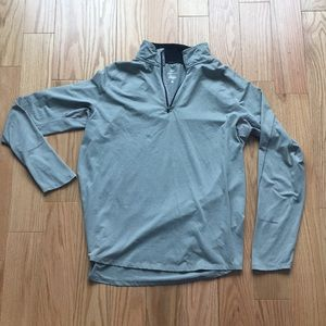 Silver Dry Fit Nike performance pullover